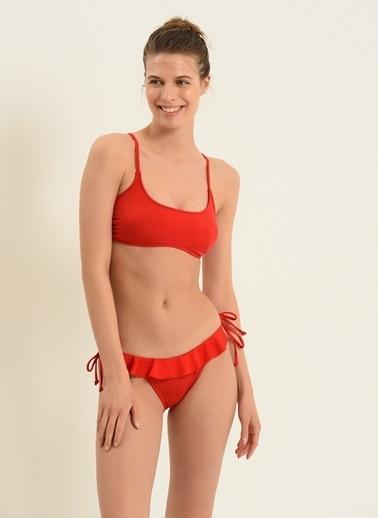 Morhipo Beach Morhipo Beach Askılı Straplez Kadın Bikini Kırmızı